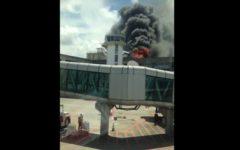 Veja vídeo: Incêndio atinge aeroporto de Salvador na tarde desta sexta (24)